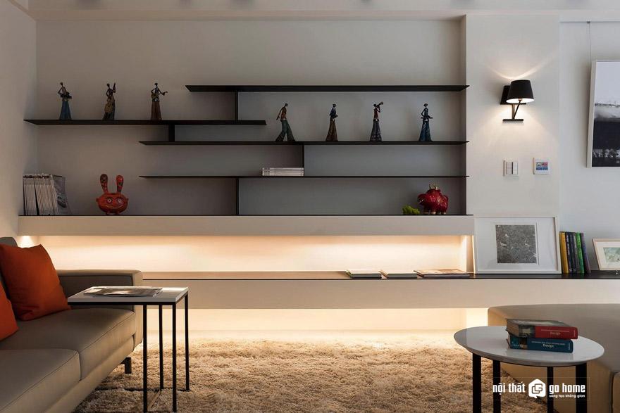 Cách chọn kệ treo tường phòng khách đẹp