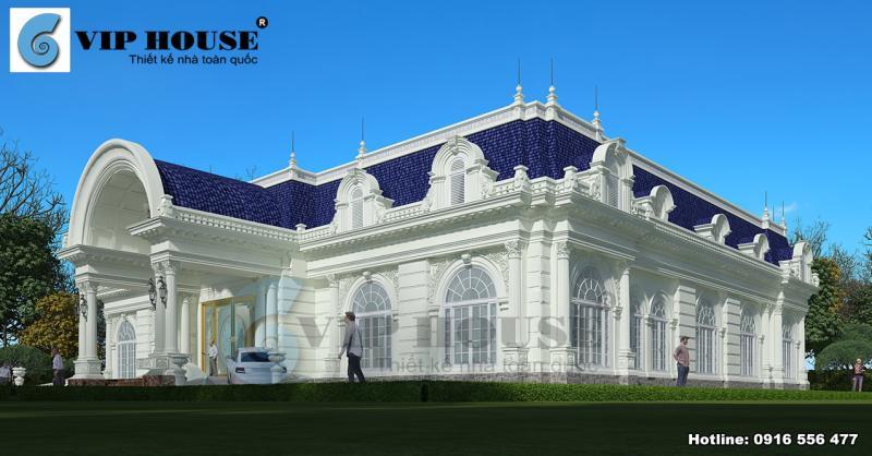 Biệt thự kiểu Pháp tân cổ điển 1 tầng tại Bình Thuận