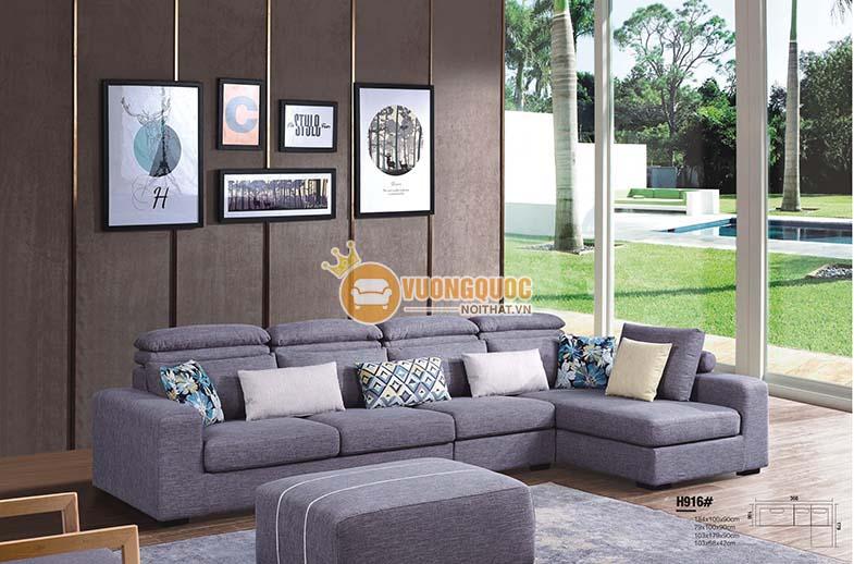 Bộ sofa hiện đại màu ghi sang trọng BLL916