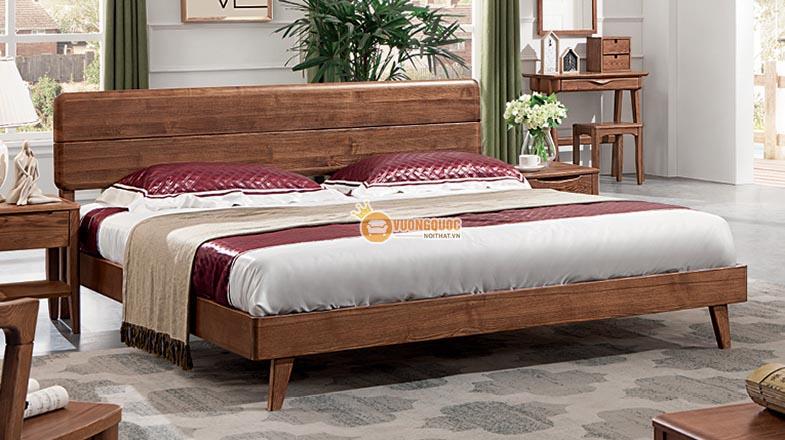 Giường ngủ gỗ tự nhiên kiểu dáng hoài cổ CGN5A105G