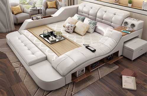 Giường ngủ có ghế massge tạo không gian nghỉ ngơi đích thực