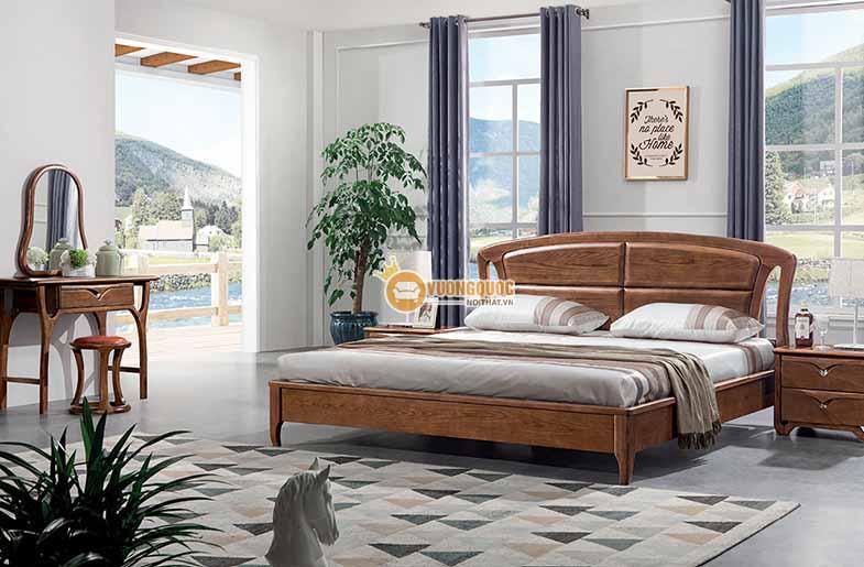 Giường ngủ gỗ tự nhiên kiểu dáng hiện đại CGN5A009G