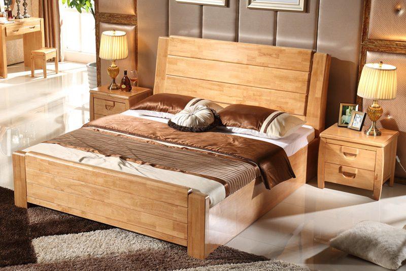 Vẻ đẹp nổi bật của mẫu giường ngủ hiện đại gỗ tự nhiên