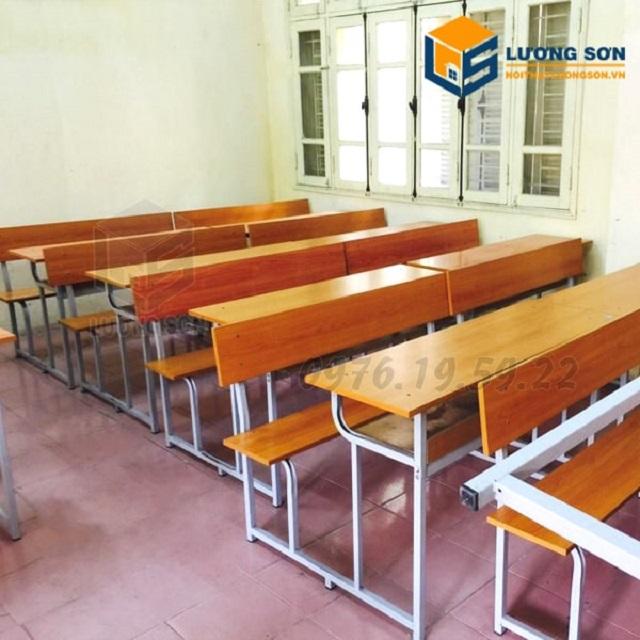 Bộ ghế liền bàn học sinh có lưng tựa giá rẻ tại nội thất Lương Sơn
