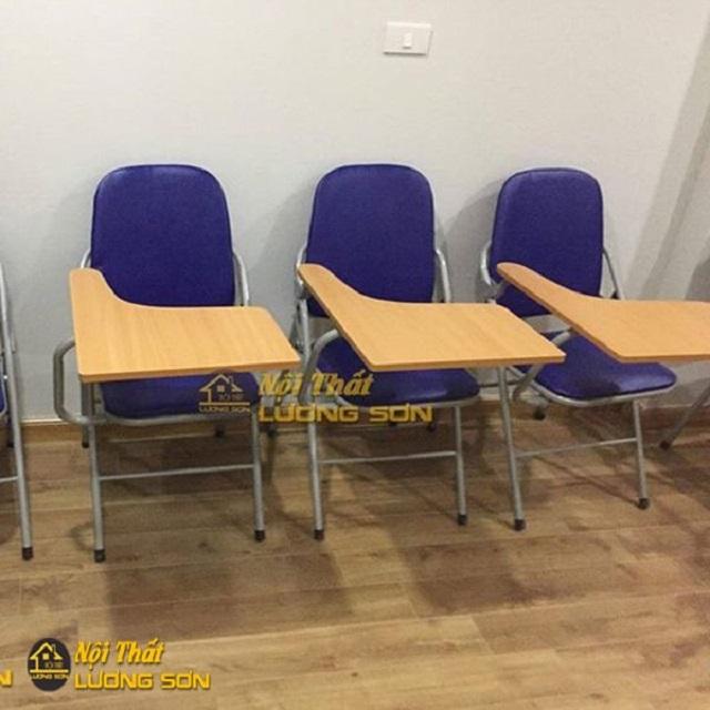 Ghế gấp liền bàn có đệm tựa dùng cho các trung tâm tiếng anh, dạy thêm