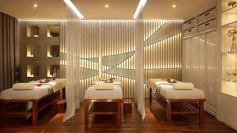 thiết kế nội thất phòng massage