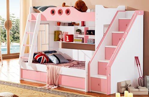 Giường 2 tầng cho bé gái cao cấp