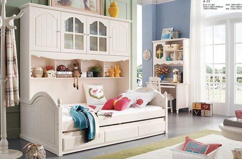 Giường tầng bé gái hiện đại