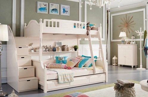 Giường tầng cao cấp sắc trắng tinh tế