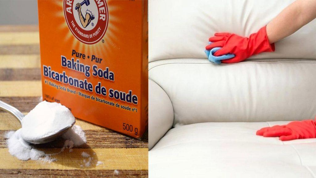 Cách làm sạch ghế sofa da thật từ baking soda