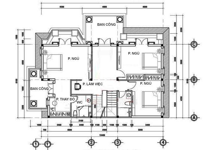 MB Tầng 1 mẫu biệt thự đẹp 2 tầng tân cổ điển
