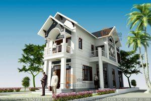 Thiết kế biệt thự tân cổ điển 2 tầng 7.2x14.5m