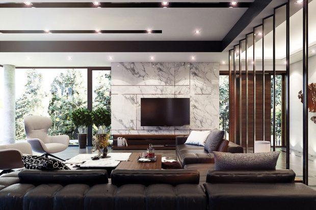 Phòng khách sang trọng và hiện đại – xu hướng 2019