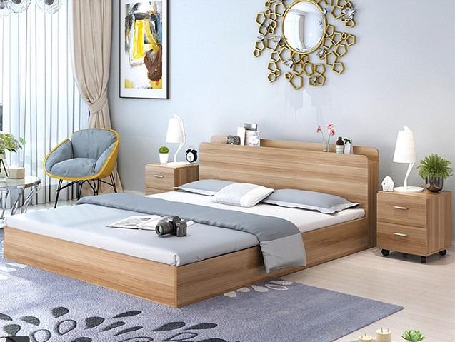 Đánh giá chi tiết mẫu giường gỗ công nghiệp giá rẻ