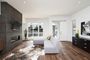 Sofa da góc hiện đại giúp phòng khách trở nên sang trọng tinh tế