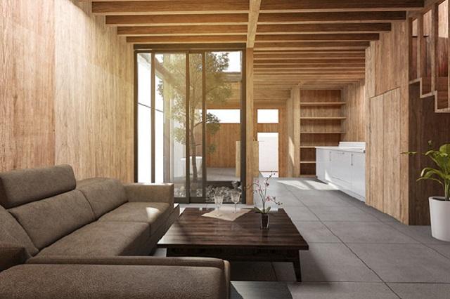 Sofa da góc L hiện đại phù hợp mọi không gian phòng khách